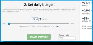 a-ads -бюджет рекламной кампании
