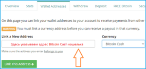 bitcoin cash адрес d FaucetHub