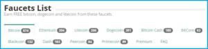 криптовалютные краны в Faucethub.io