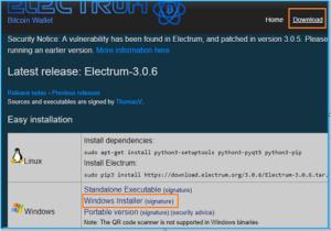 electrum-кошелек установить