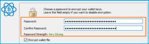 Electrum-кошелек - придумываем сложный пароль