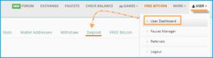 Депозит для Bitcore на Faucethub.io